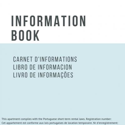 Livro de Informações do Alojamento Local em 4 línguas (pt/ing/fr/es)