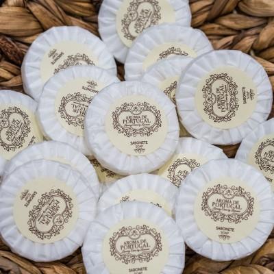 Sabonetes 20gr (redondos) em papel plissado (50 unidades)