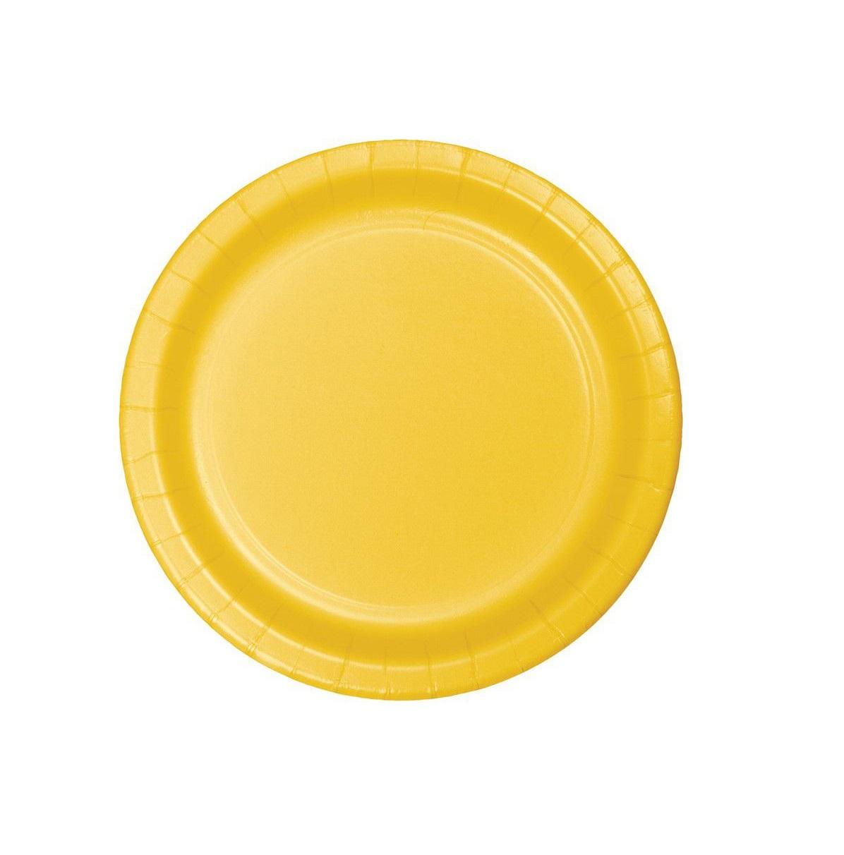 20 pratos amarelo
