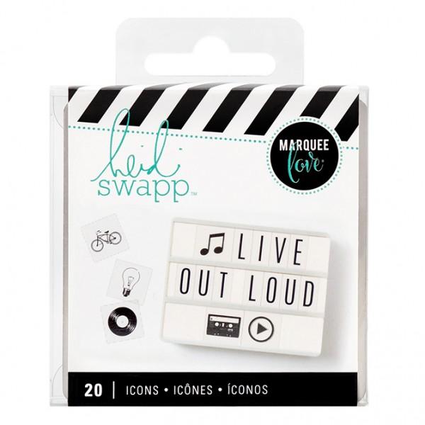 Ícones Preto e Branco para Light Box by Heidi Swapp