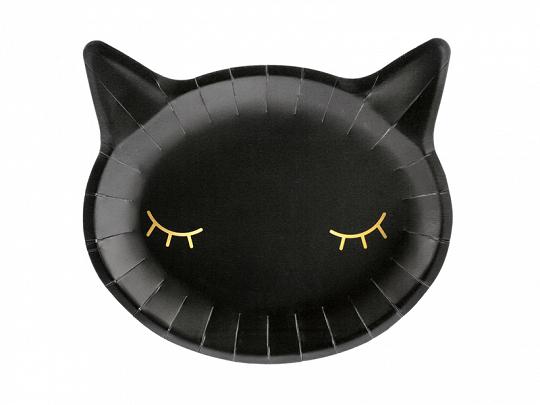 Pratos gatinho preto