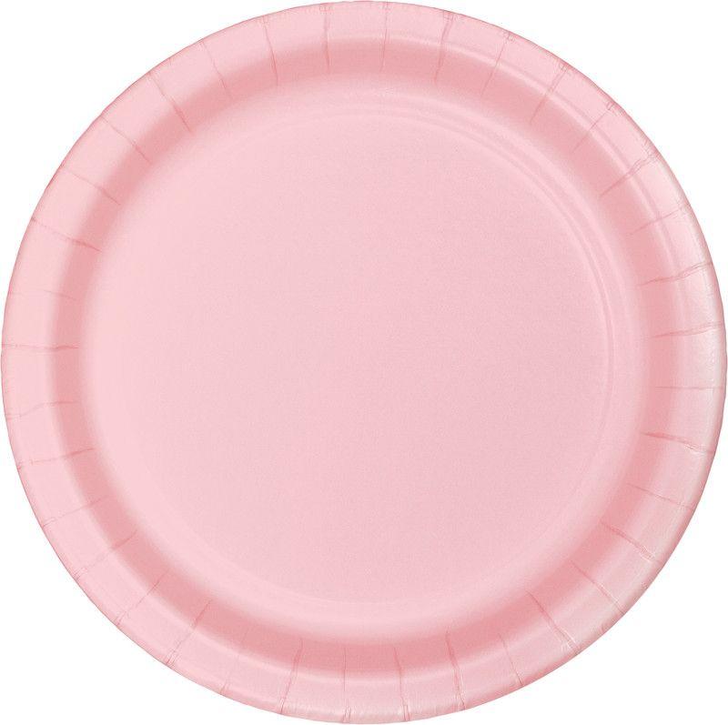 16 Pratos Rosa bebé