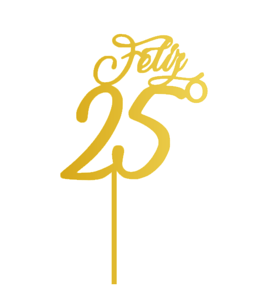 Topo de bolo Feliz 25º
