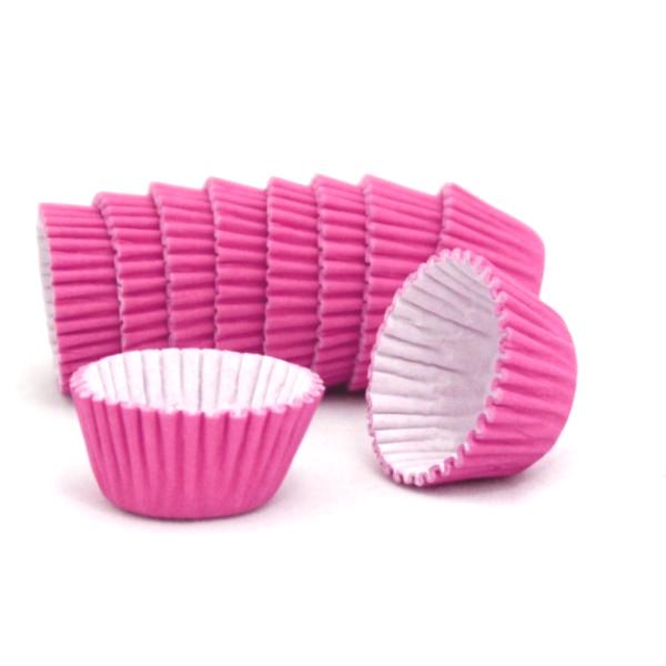 Formas cupcake rosa fushia x100