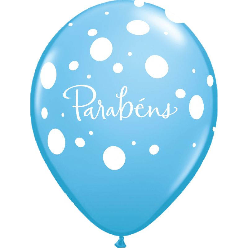 Balão Parabéns azul