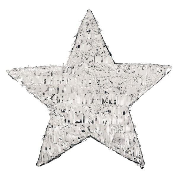 Pinhata artesanal estrela prata