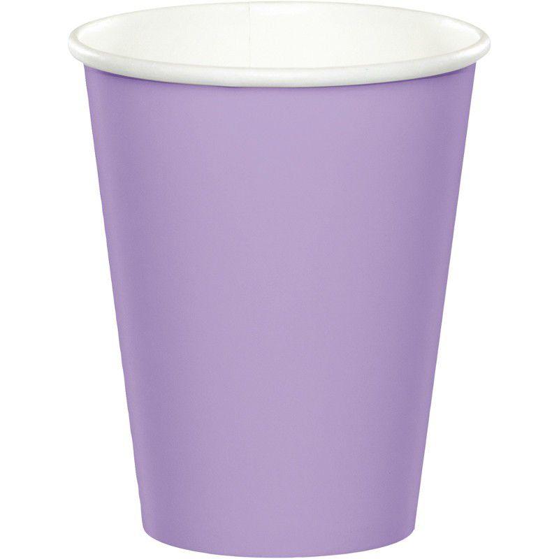 24 copos lilás