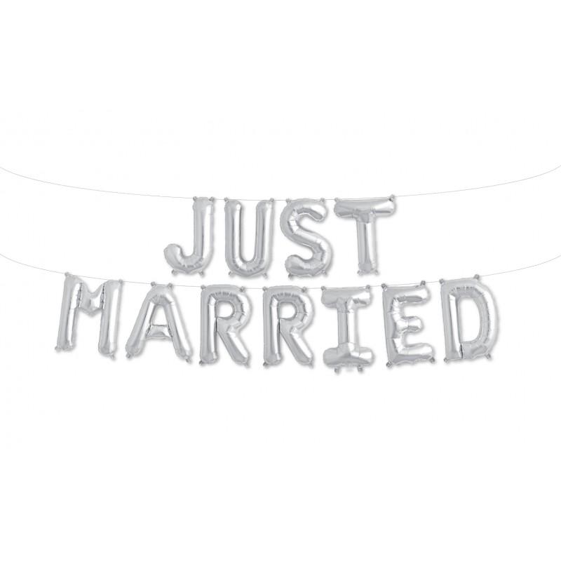 "Balão ""JUST MARRIED"""