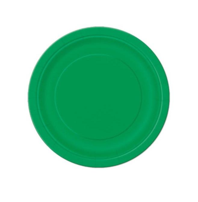 20 Pratos Verde floresta