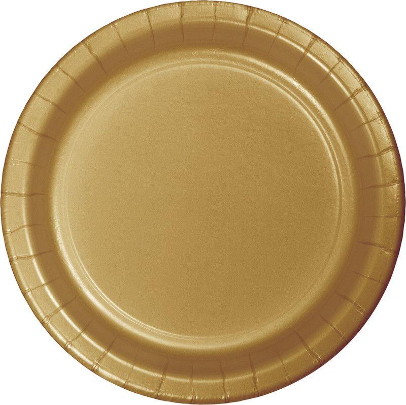 16 pratos ouro 23cm