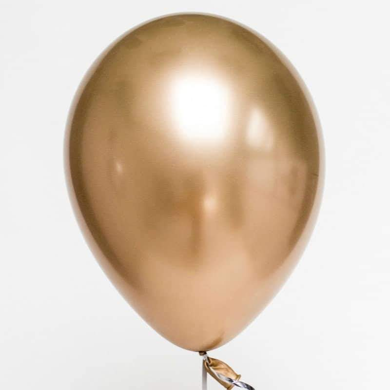 Balão chrome dourado