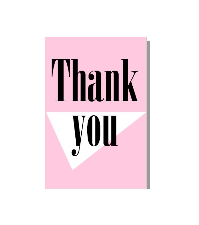 "Postal ""thank you"" Rosa"