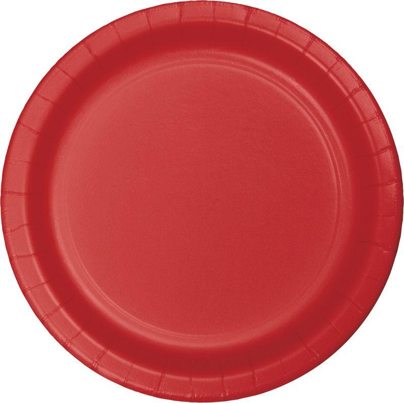16 pratos Vermelho