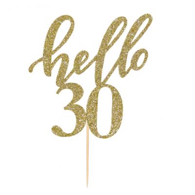 """Topo de bolo """"Hello 30"""""""