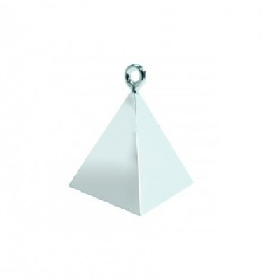 Peso pirâmide para balões prateado