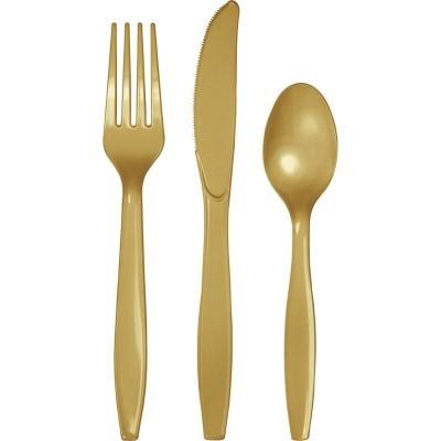 Set de 24 talheres Dourado