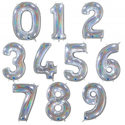 "Números 40"" holográficos"