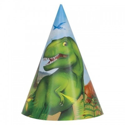 8 chapéus dinossauro