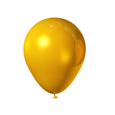 Balão amarelo metalizado