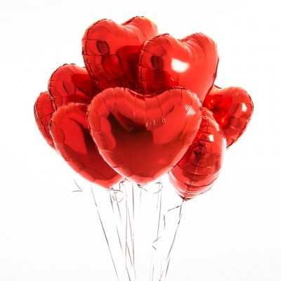 Balão foil coração vermelho