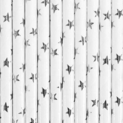 10 Palhinhas Estrela Prata