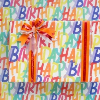 Rolo de Papel de embrulho Happy Birthday