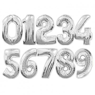 """Números 34"""" prata"""