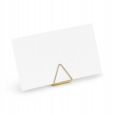 Suportes macadores triângulos ouro