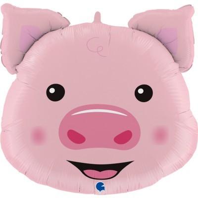 Balão cabeça de Porco 76cm