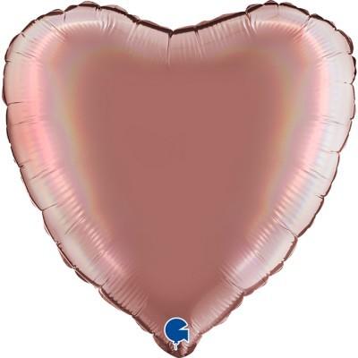 Balão coração acetinado Rosa