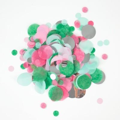 Confettis verde e rosa