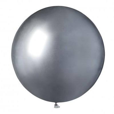 Balão latex 48 cm Chrome Prateado