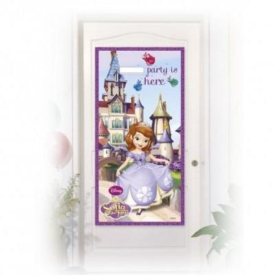Decoração de porta princesa sofia