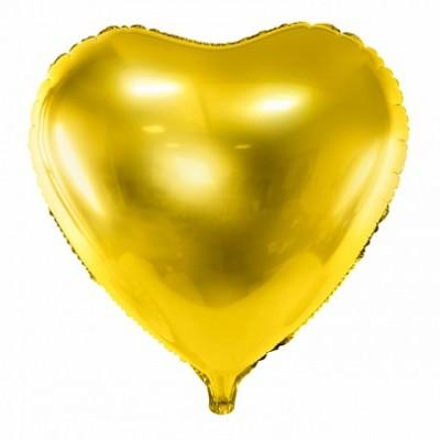 Balão coração ouro 61cm