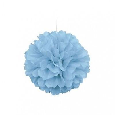 Pompom 40cm azul bebé