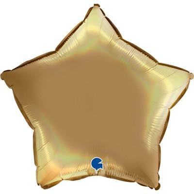 Balão estrela acetinado Champanhe