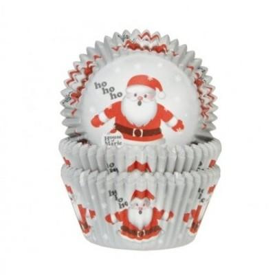 50 x Formas frisada cupcake pai natal