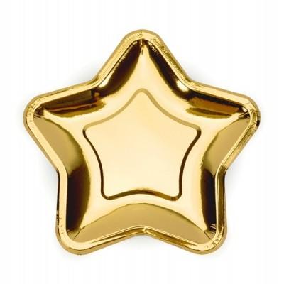 Pratos Estrelas ouro S