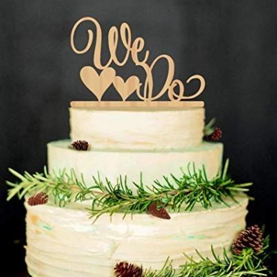 Topos de bolo Personalizados em madeira