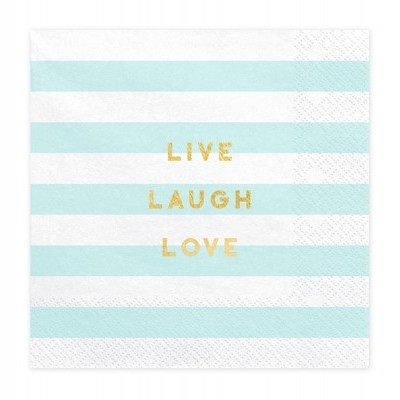 "20 Guardanapos ""Live Laught Love"""