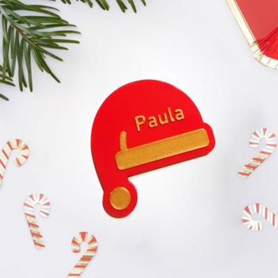 Marcador de lugar Gorro Pai Natal personalizado