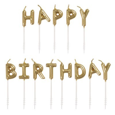 Kit velas Happy Birthday