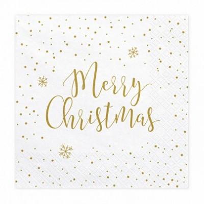 x20 Guardanapos Merry Christtmas