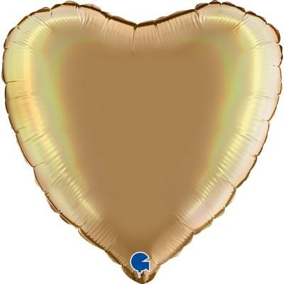 Balão coração acetinado Champanhe
