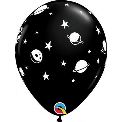 """6 balões latex 11"""" Espaço"""