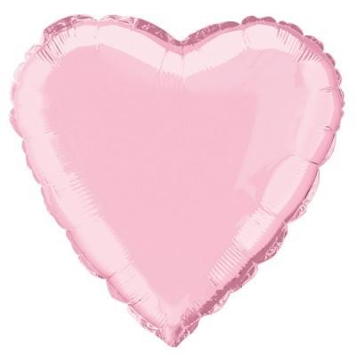 Balão Coração Rosa bebé  46cm