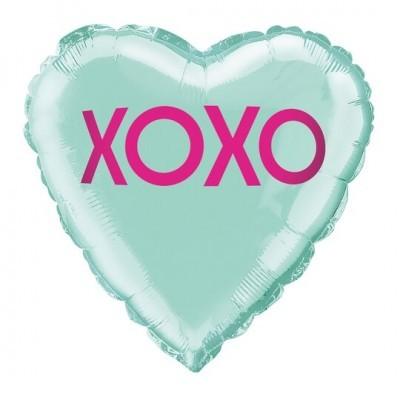 """Balão coração """"Xoxo"""""""