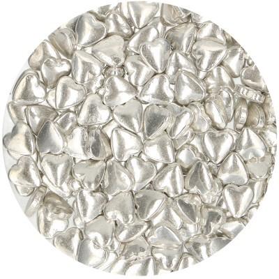 Corações prata metálico 75g