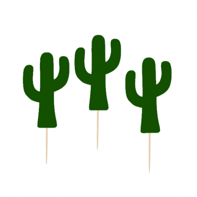 12 Cupcake toppers Catus