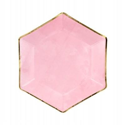 6 Pratos rosa